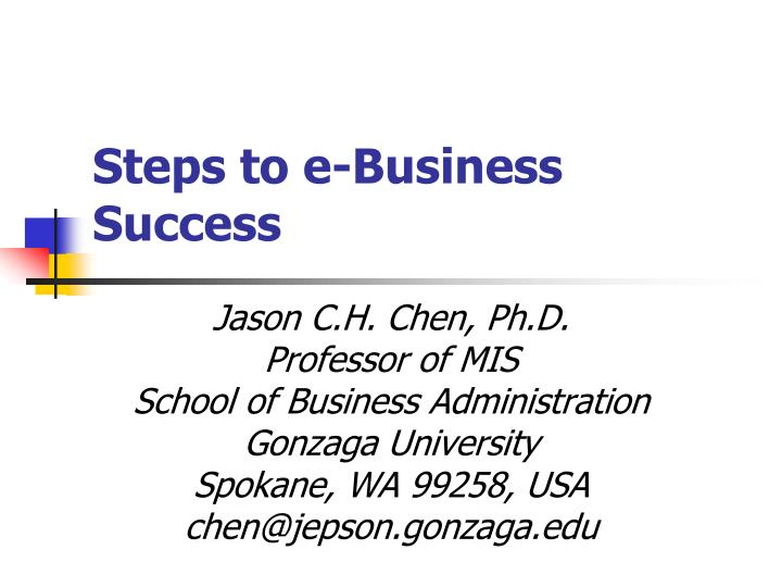 Steps to e business success