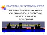 strategic role of information systems
