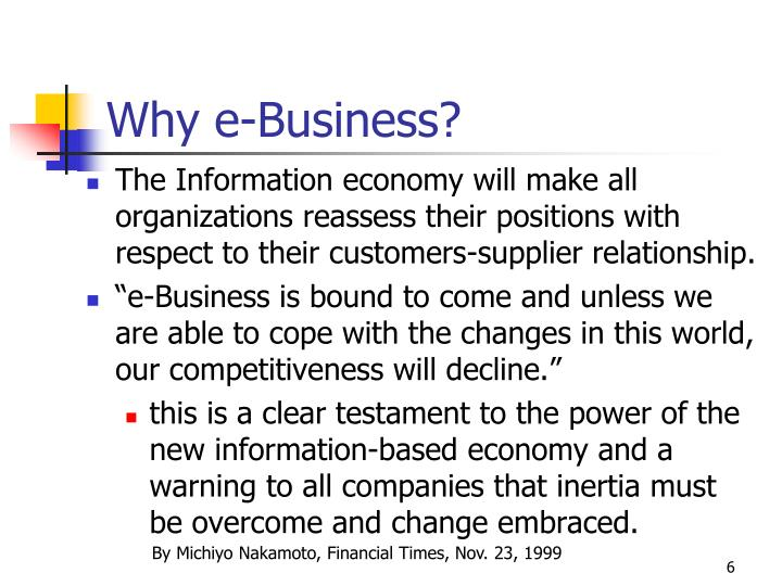 Why e-Business?