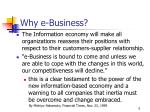 why e business