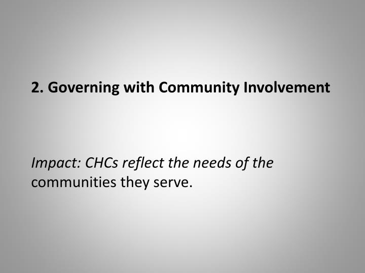 2. Governing with Community Involvement