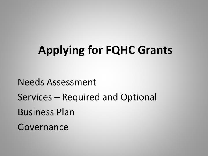 Applying for FQHC Grants