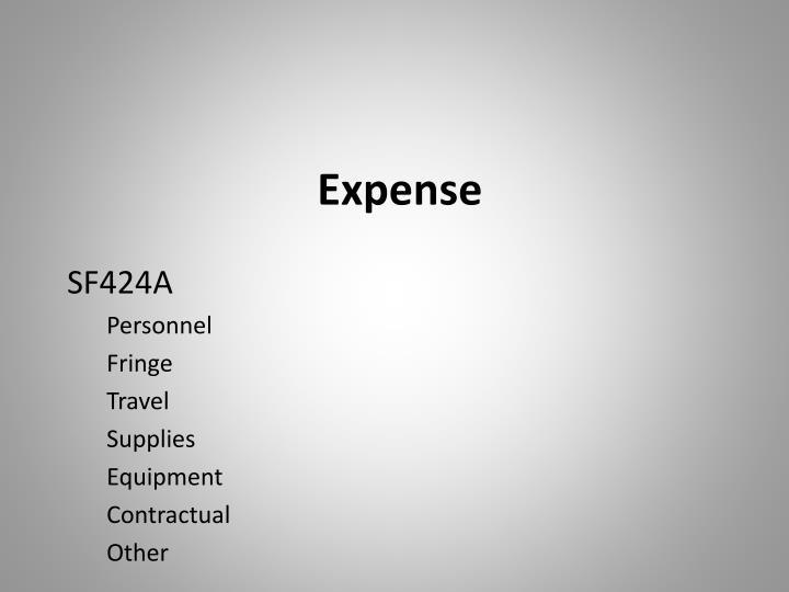 Expense