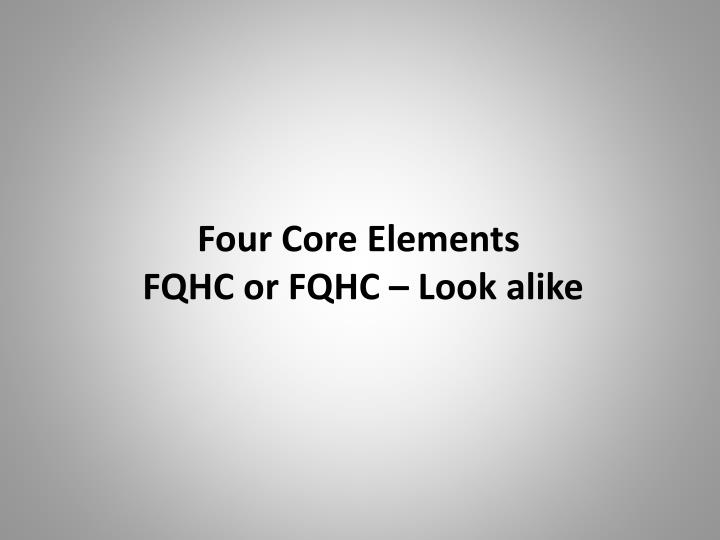 Four Core Elements