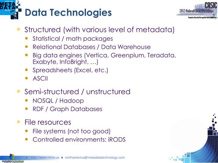 Data Technologies