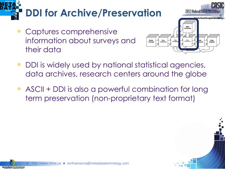 DDI for Archive/Preservation