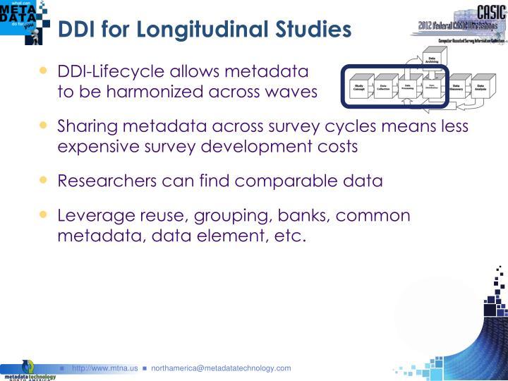 DDI for Longitudinal Studies