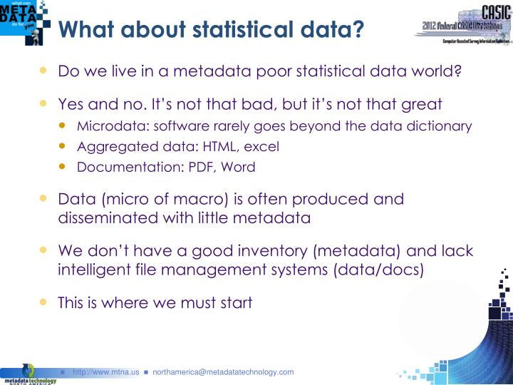 What about statistical data?