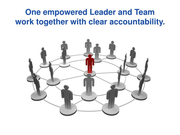 One empowered Leader and Team