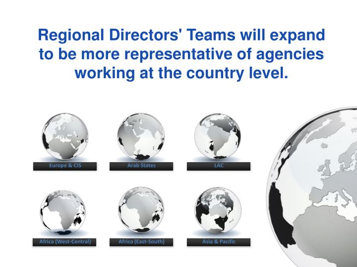 Regional Directors' Teams will expand