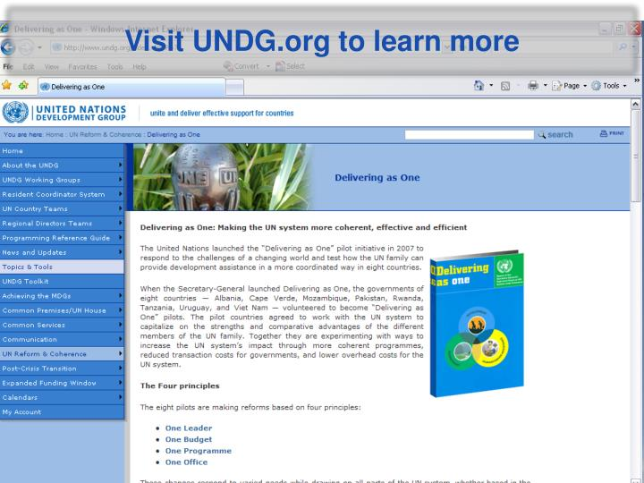 Visit UNDG.org