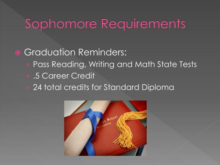 Sophomore Requirements