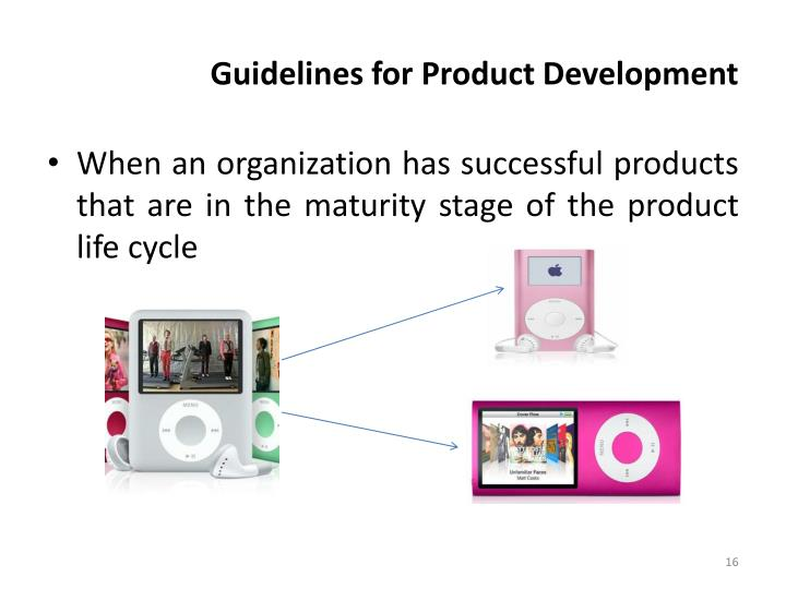 Guidelines for Product Development