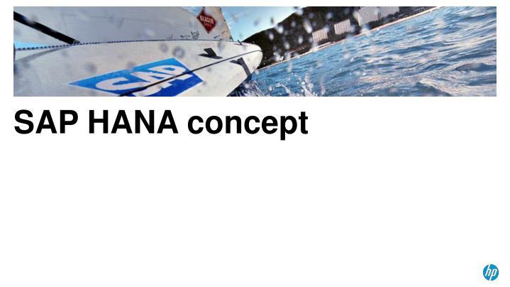 SAP HANA concept