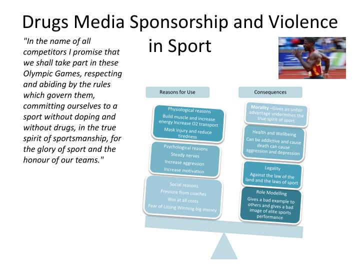 Drugs Media Sponsorship and Violence in Sport