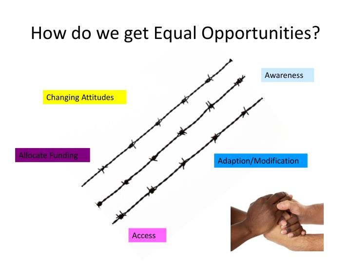 How do we get Equal Opportunities?