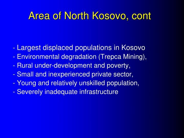 Area of North Kosovo, cont