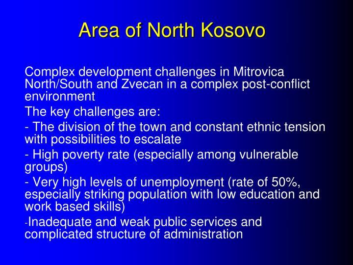 Area of North Kosovo