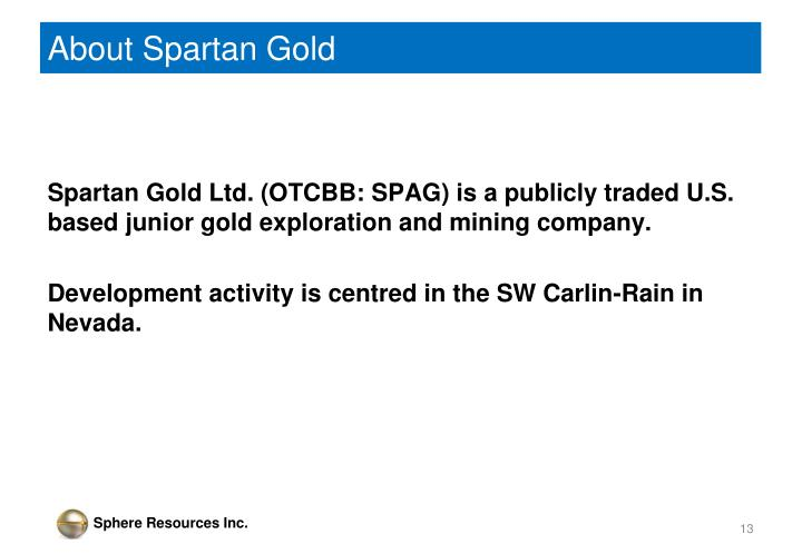About Spartan Gold