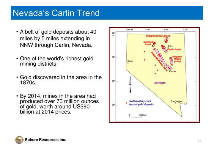 Nevada's Carlin Trend