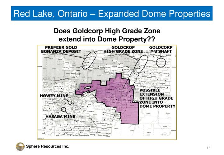 Red Lake, Ontario – Expanded Dome Properties