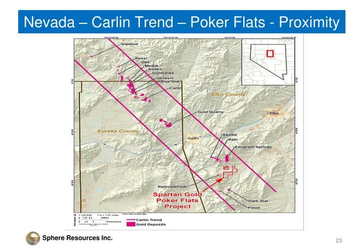 Nevada – Carlin Trend – Poker Flats - Proximity