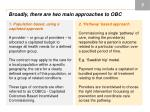 broadly there are two main approaches to obc