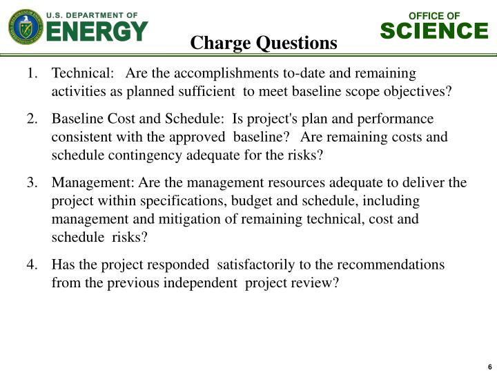 Charge Questions