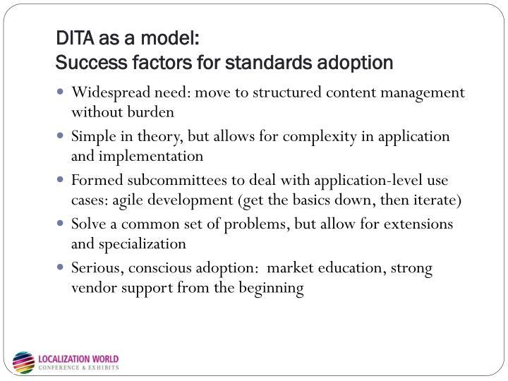 DITA as a model: