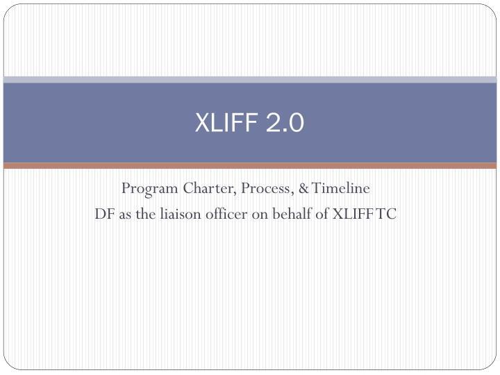 XLIFF 2.0