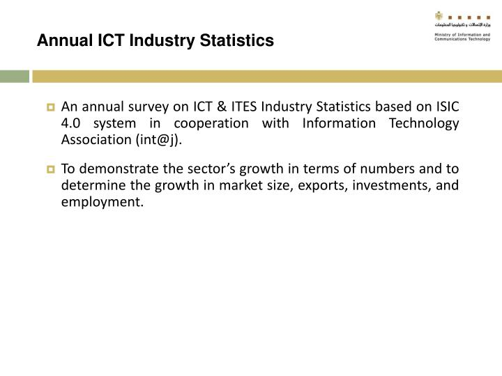 Annual ICT Industry Statistics