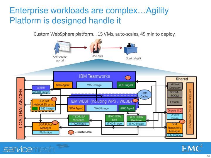 Enterprise workloads are complex…Agility Platform is designed handle it