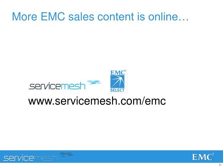 More EMC sales