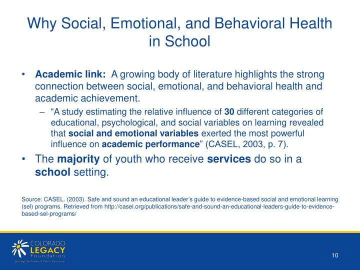 Why Social, Emotional, and