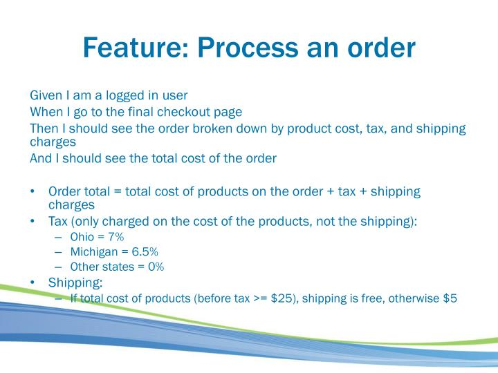 Feature: Process an order