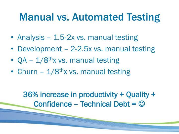 Manual vs. Automated Testing