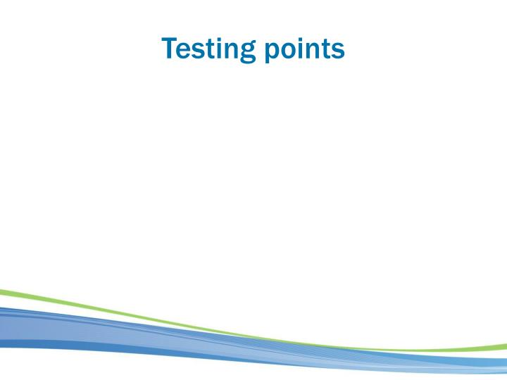 Testing points