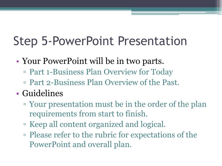 Step 5-PowerPoint Presentation
