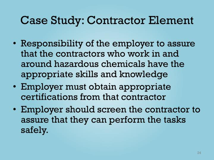 Case Study: Contractor Element