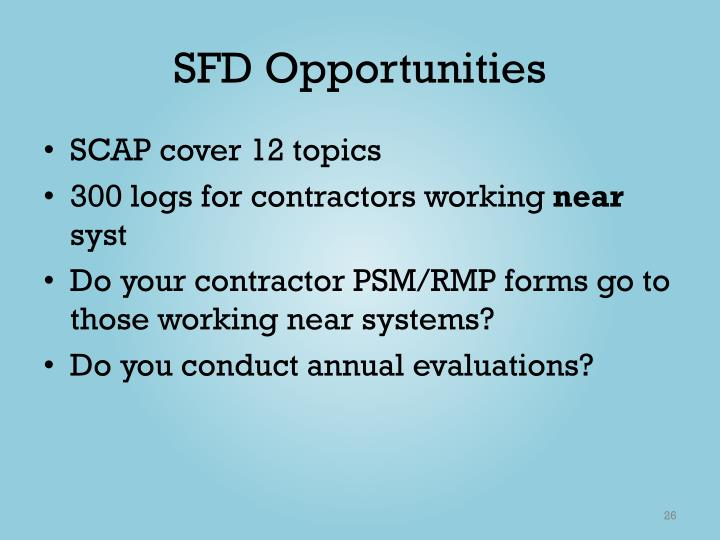 SFD Opportunities