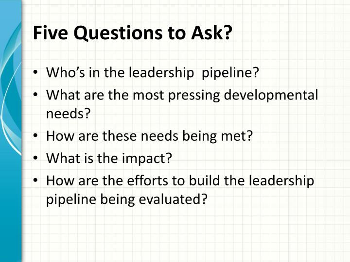 Five Questions to Ask?