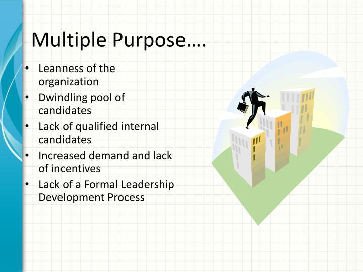 Multiple Purpose….
