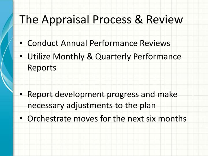 The Appraisal Process & Review