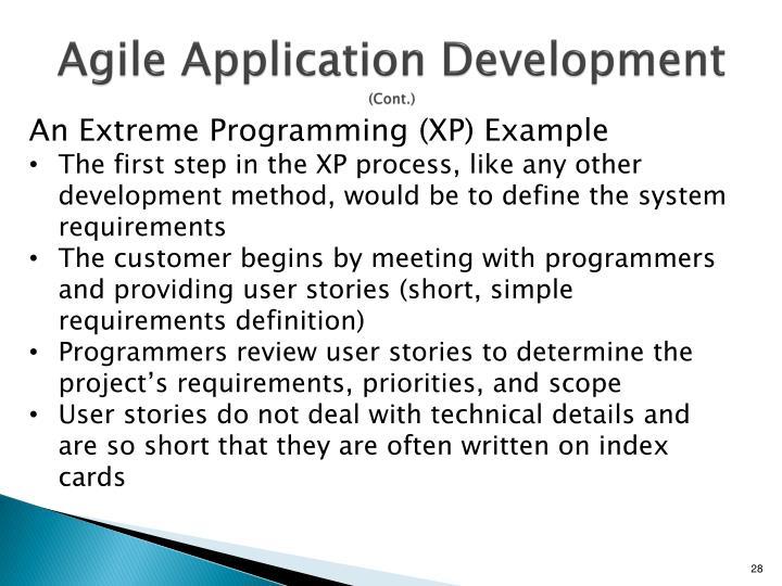 Agile Application Development