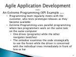 agile application development cont2