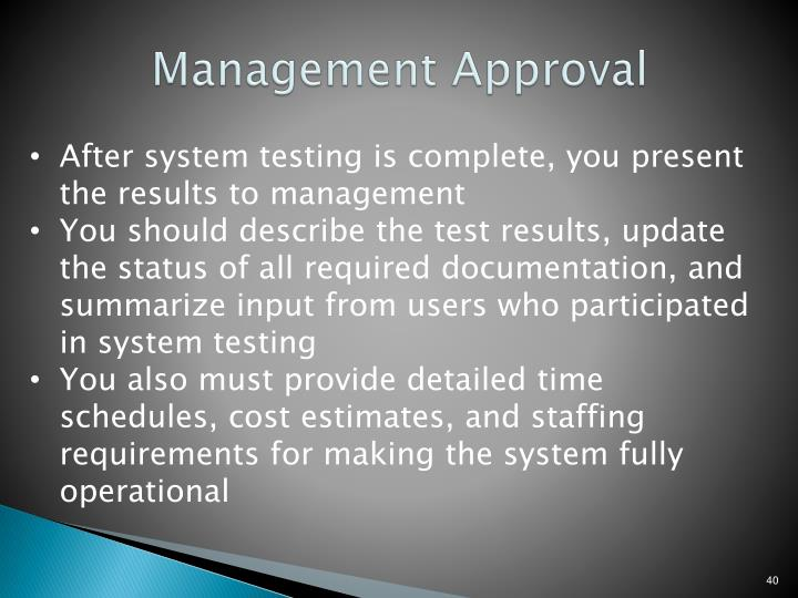 Management Approval
