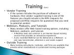 training cont1