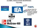 global education businesses testing