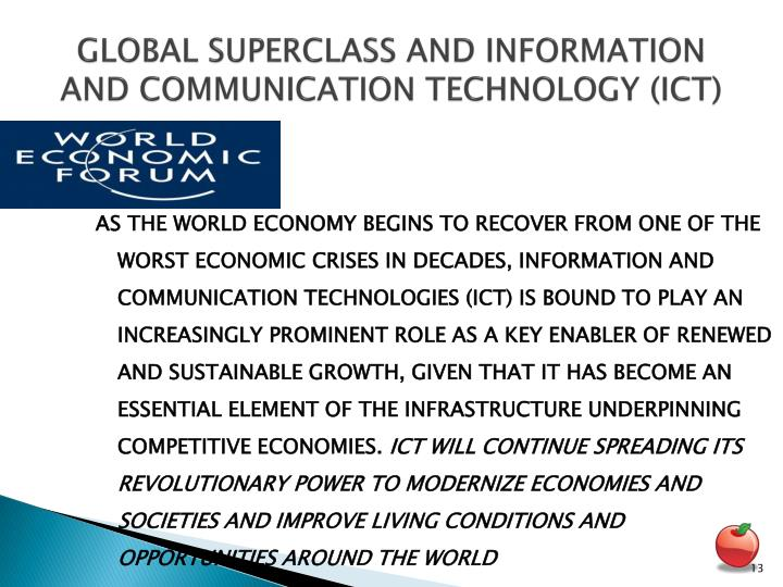 GLOBAL SUPERCLASS AND INFORMATION AND COMMUNICATION TECHNOLOGY (ICT)