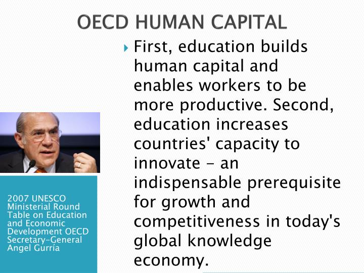 OECD HUMAN CAPITAL